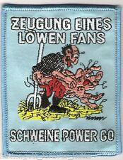 """Anti 1860 Aufnäher """"Schweinepo.."""" für die Fan Kutte neu"""