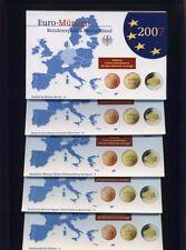 Bundesrepublik Münzen KMS 2007 ADFGJ Polierte Platte