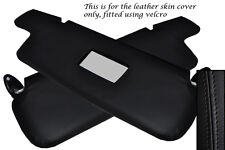 BLACK STITCH FITS BMW 3 SERIES E21 75-84 2X SUN VISORS LEATHER COVERS ONLY