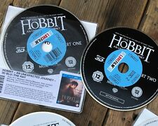The Hobbit: Unexpected Journey (3D Blu-Ray 2012) Fantasy Adventure - DISCS ONLY
