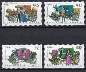 Bulgaria 2003 Carriages 4 MNH stamps