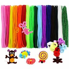340 Pcs Pipe Cleaners Chenille Stem 6 mm x 12 Inch, 17 Assorted Colors
