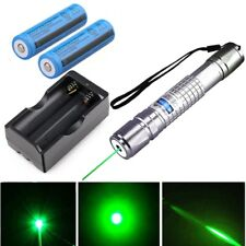20Miles 5mw 532nm Powerful Green Laser Pointer Pen Pet Toy Laser+Battery+Charger
