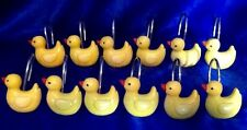 Yellow Rubber Duck Rubber Ducky Decorative Plastic Shower Curtain Hooks Twelve