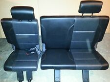 08 09 Nissan Armada SE: Bench Black Leather 3rd Row Rear Seat  (NAP-AUTO PARTS)