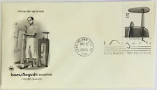 10 USPS PCS Isamu Noguchi 2004 37c Stamp FDC 3861 First Day Issue NEW