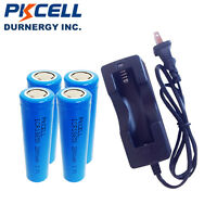 18650 x4 Rechargeable Li-ion 3.7V 2600mAh Battery and Dual Wall Charger