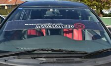 Mazdaspeed Windshield Against Sun Reflect Sticker Mazda 3 6 CX-3  MX-5 BT 130cm