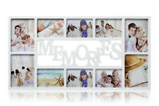 White  Large Memories Photo Frame 10 Multi Aperture  Frame Ideal gift -CL-9875