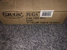 "1 Dozen Jugs Sting-Free 9"" Yellow Dimpled Baseballs"