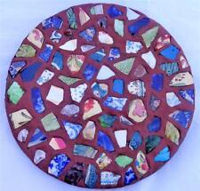 Antique Victorian Pique Assiette Mosaic Plate Folk Art Collectable Sherds c 1890