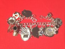 Special! OOAK Estate 50s-80s MOTHER CHARM BRACELET 15 charms  MOM! MAMA! MUM! MA
