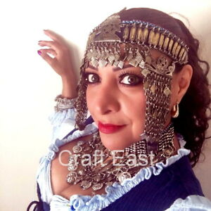 Kashmiri Tribal Headpiece Dance Headband Ethnic Head Band Kuchi Headdress Choker