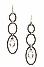 Charriol White Topaz Earrings Set in 18K White Gold