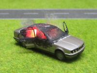 1:87 H0 BMW 535i E34 Vollbrand LED 12V Feuer Laser Cut Patina Sonderanfertigung
