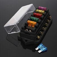 For Car Boat 6-Way Blade Fuse Box Block Holder ATO ATC Circuit Standard 12V  ·~
