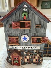 Department 56 -  New England Village Series - Blue Star Ice Co - Vintage 1993