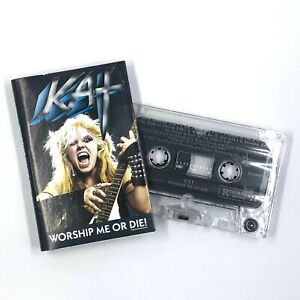 THE GREAT KAT Worship Me Or Die! Cassette Tape 1987 Speed Metal Rare