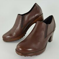 Womens Dansko Brown Leather Slip On Clogs Shoes Boots USA Size 10.5 ~ EU Size 41