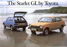 Toyota Starlet 1200GL 1000GL 1980 UK market sales brochure