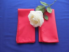 2 Red Dinner Napkins Excellent Condition