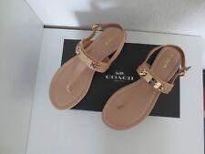 Coach Damen Thong Sandalen Gr. 39,5 US 8,5 Sandaletten Schuhe Farbe Nude/Gold