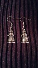 """Handmade dalek pair of earrings  (""""antique silver"""")"""