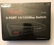New Rosewill 8 Port 10/100 Mbp Switch - Model Rc-406X