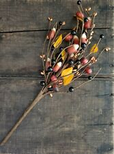 Fall Floral Pick Candy Corn Pumpkins & Berries Primitive Halloween Decor 16 in