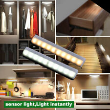 10 LED PIR Motion Sensor Wireless Cabinet Night Light Lamp Closet  Bed Lamp