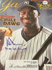 MINT New York Yankees Magazine Autographed Chili Davis w/insc RARE LOOK