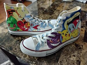 Hand-Painted Pokemon Shoes (Size 7.5 Mens)