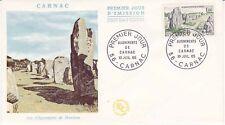 Enveloppe 1er jour FDC 1965 - Carnac Les alignements de Menhirs Morbihan