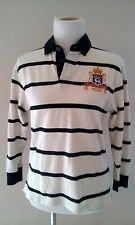 Polo by Ralph Lauren Rugby Size M (12/14), ivory, black stripes, lvxii logo