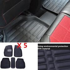 Improved 5PCS PU For Car Floor Mats Front Rear in Black Interior Mat Carpets