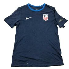 Nike Team USA Soccer Shirt Men's Size Medium Athletic Cut Blue Short Sleeve Tee