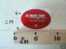 STICKER,DECAL LE MANS 2001 SHELL WINNING POWER