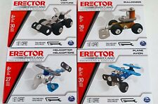 New Meccano Erector  4 Different Models Plane, Car, Helicopter, & Bulldozer