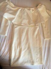 Oh My Love Cream Frill Bodycon Dress New Size Small