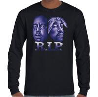 2Pac  Biggie Faces Mens Rapper T-Shirt Tupac 2 Pac Shakur Biggie Smalls Rap