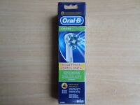 Braun Oral-B Crossaction Replacement Toothbrush Heads - 4 GENUINE