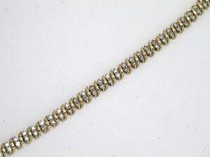 10k Yellow Gold Round Diamond Tennis Bracelet 4.10ct 15.8g