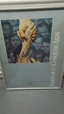 NORMAN ROCKWELL POSTER WORLD AIDS DAY 1991  SIGNED BY REVEREND JAMES M. GRAHAM