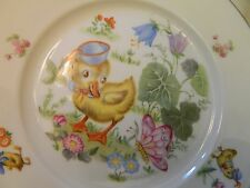 RARE THOMAS GERMANY VINTAGE CHICK, BUTTERYFLY AND FLOWER SIGNED PLATE