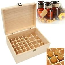 38 Slots Essential Oil Bottle Wooden Storage Box Aromatherapy Organizer Case