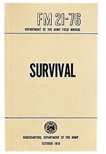 Fm32-76 Survival Us Army Field Manual 1970 Training Department of Army 288 pages