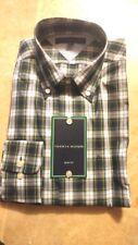 NWT Tommy Hilfiger Men's Long Sleeve Button-Down Plaid Dress Shirt 14 1/2 32-33