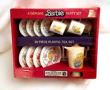*New* Sealed VINTAGE 1983 BARBIE Mattel Chilton-Globe 26-Piece Plastic TEA SET