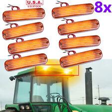 8x Led Amber Warning Cab Light Ar60250 For John Deere 8570 8770 8870 8970 Usa