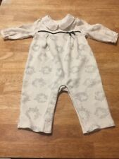 Janie and Jack Baby Girl Outfit 3-6m Peter Pan Collar And Small Black Bow Floral